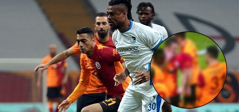 Son dakika spor haberi: Mohamed Galatasaray - BB Erzurumspor maçındaki golünün ardından Arda Turan ile böyle sevindi
