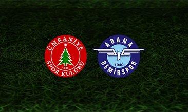 Ümraniyespor - Adana Demirspor maçı saat kaçta ve hangi kanalda?