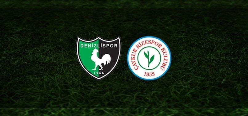 Denizlispor - Çaykur Rizespor maçı ne zaman, saat kaçta ve hangi kanalda?   Süper Lig