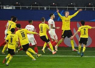 Son dakika spor haberleri: Borussia Dortmund - Sevilla maçında gergin anlar! Erling Haaland...