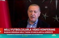 Başkan Recep Tayyip Erdoğan milli futbolcularla görüştü