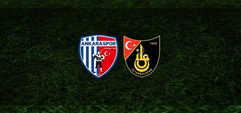 Ankaraspor - İstanbulspor maçı ne zaman, saat kaçta ve hangi kanalda?   TFF 1. Lig