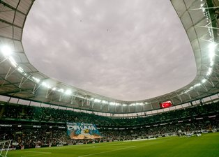 Beşiktaş - Başakşehir maçından kareler