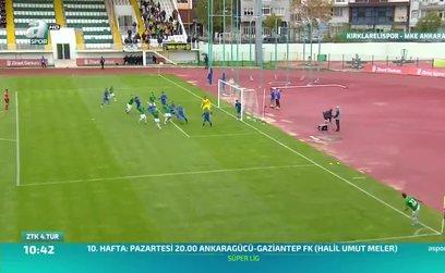 Kırklarelispor 1-0 Ankaragücü (ÖZET)
