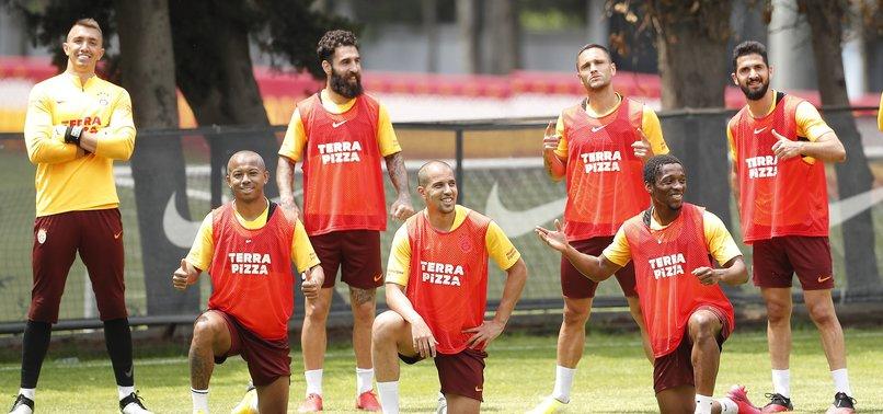 Galatasaray'da neşeli idman! İşte o kareler