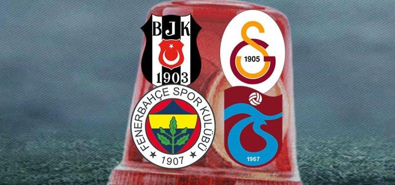 Beşiktaş, Fenerbahçe, Galatasaray ve Trabzonspor'da sakatlık kabusu bitmiyor