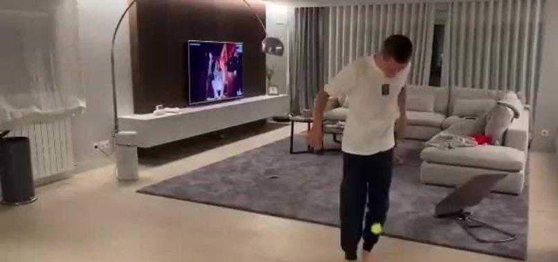 PSG'nin yıldızı Ander Herrera tenis topuyla şov yaptı!