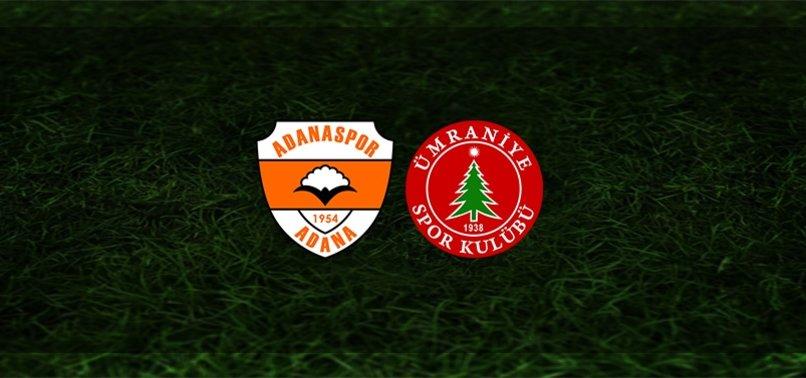 Adanaspor - Ümraniyespor maçı ne zaman, saat kaçta ve hangi kanalda?   TFF 1. Lig