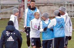 Bayern Münih idmanında ortalık karıştı!