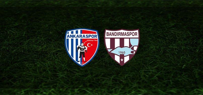 Ankaraspor - Bandırmaspor maçı ne zaman, saat kaçta ve hangi kanalda?   TFF 1. Lig