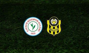 Çaykur Rizespor - Yeni Malatyaspor maçı saat kaçta ve hangi kanalda?