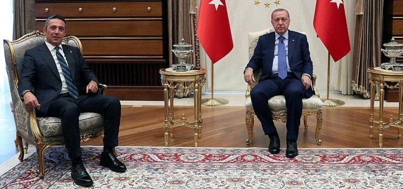 Başkan Erdoğan F.Bahçe Başkanı Ali Koç'u kabul etti