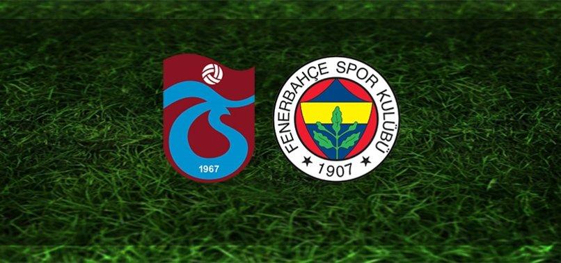 Trabzonspor-Fenerbahçemaçının iddaa oranları belli oldu!