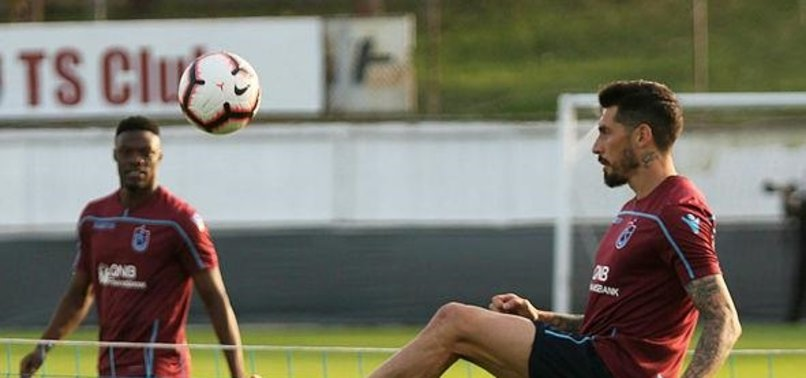 Trabzonspor'un antrenmanında Sosa fırtınası