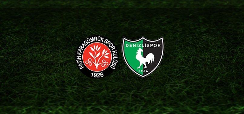 Fatih Karagümrük - Denizlispor maçı ne zaman, saat kaçta ve hangi kanalda? | Süper Lig