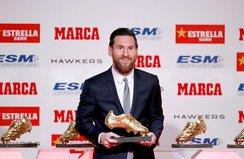 Messi Altın Ayakkabı ödülünü aldı