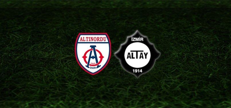 Play-off finali! Altınordu - Altay maçı ne zaman? Saat kaçta? Hangi kanalda canlı yayınlanacak? Şifresiz mi?