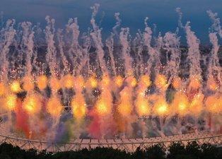 EURO 2020 olağanüstü bir törenle açıldı! İşte o kareler...
