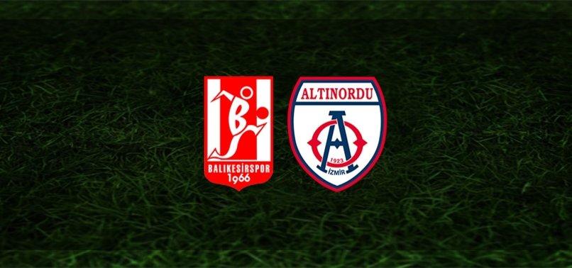 Balıkesirspor - Altınordu maçı ne zaman, saat kaçta ve hangi kanalda? | TFF 1. Lig