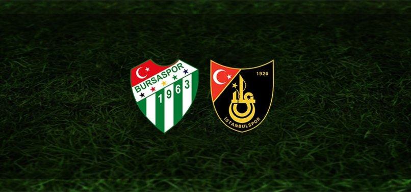 Bursaspor - İstanbulspor maçı ne zaman, saat kaçta ve hangi kanalda?   TFF 1. Lig
