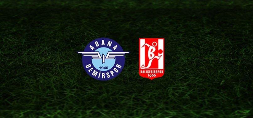 Adana Demirspor - Balıkesirspor maçı ne zaman, saat kaçta ve hangi kanalda? | TFF 1. Lig