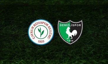Rizespor - Denizlispor maçı saat kaçta ve hangi kanalda?