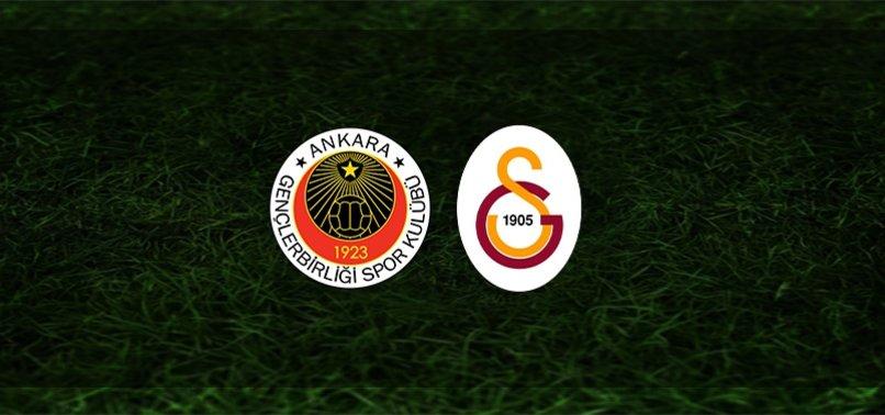 Gençlerbirliği - Galatasaray maçı ne zaman, saat kaçta ve hangi kanalda?   Süper Lig