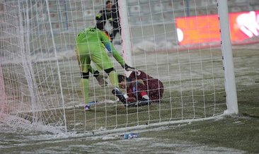 BB Erzurumspor - Trabzonspor maçında korkutan an! Guilherme...