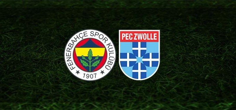 Son dakika FB haberleri | Fenerbahçe - PEC Zwolle maçı saat kaçta ve hangi kanalda?