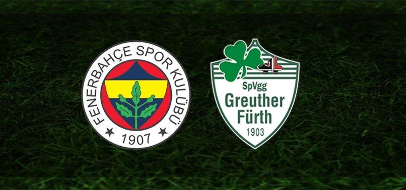 Fenerbahçe - Greuther Fürth maçı ne zaman, saat kaçta ve hangi kanalda? İşte karşılaşmaya dair detaylar...