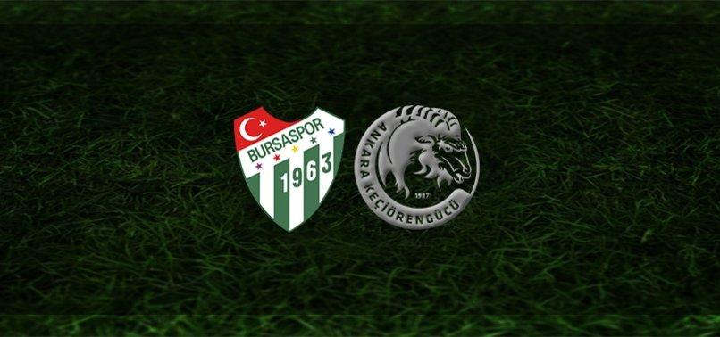 Bursaspor - Keçiörengücü maçı ne zaman, saat kaçta ve hangi kanalda? | TFF 1. Lig