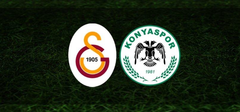 Galatasaray-Konyaspor | İlk 11'ler belli oldu
