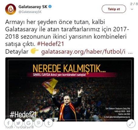 Galatasaraydan manidar iki paylaşım