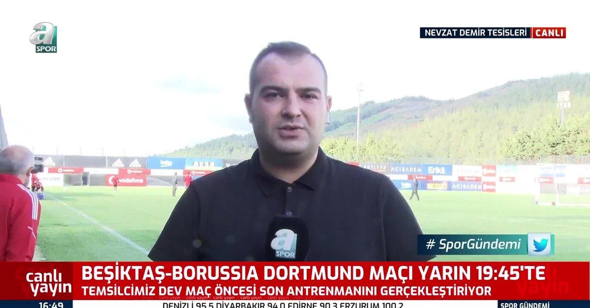 Beşiktaş Dortmund maçı hazırlıklarını tamamladı