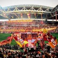 Galatasaray Türk Telekom Stadında şampiyonluğunu kutladı