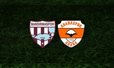 Bandırmaspor - Adanaspor maçı saat kaçta ve hangi kanalda?