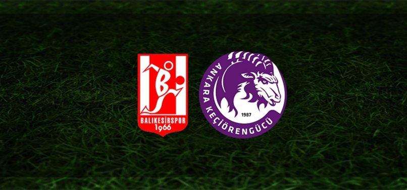 Balıkesirspor - Keçiörengücü maçı ne zaman, saat kaçta ve hangi kanalda?   TFF 1. Lig