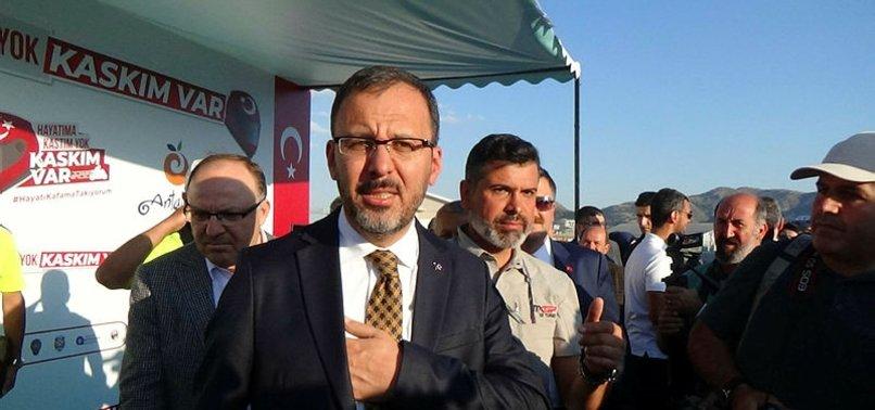 Bakan Kasapoğlu'dan milli tekvandoculara tebrik
