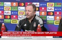 Sergen Yalçın Sporting maçı öncesinde basın toplantısına çıktı!