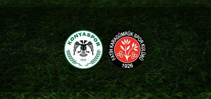 Konyaspor - Fatih Karagümrük maçı ne zaman, saat kaçta ve hangi kanalda? | Süper Lig