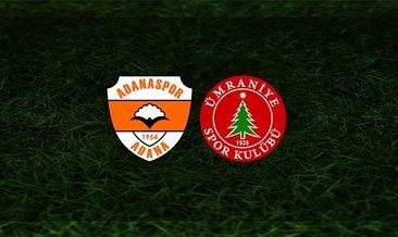 Adanaspor - Ümraniyespor maçı saat kaçta ve hangi kanalda?