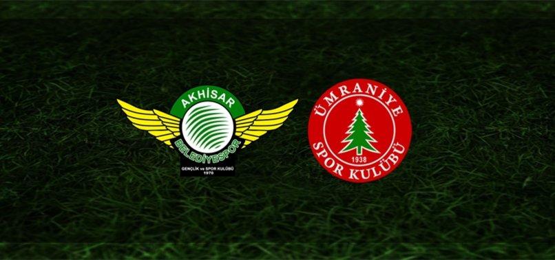 Akhisarspor - Bereket Sigorta Ümraniyespor maçı ne zaman saat kaçta ve hangi kanalda CANLI yayınlanacak?.