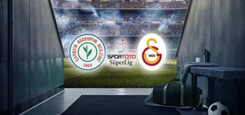 Çaykur Rizespor - Galatasaray maçı ne zaman saat kaçta hangi kanalda?