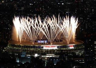 Son dakika spor haberi: Tokyo 2020 Olimpiyatları açılış töreninde dikkat çeken görüntüler!