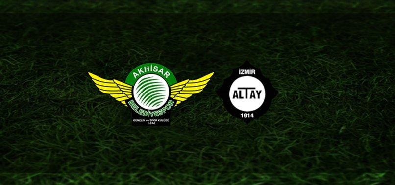 Akhisarspor - Altay maçı ne zaman, saat kaçta ve hangi kanalda? | TFF 1. Lig