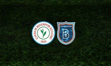 Rizespor - Başakşehir maçı saat kaçta ve hangi kanalda?