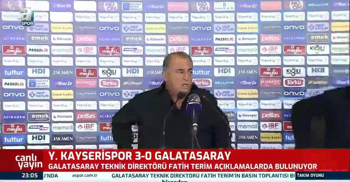 Fatih Terim Kayserispor maçı sonrası konuştu!