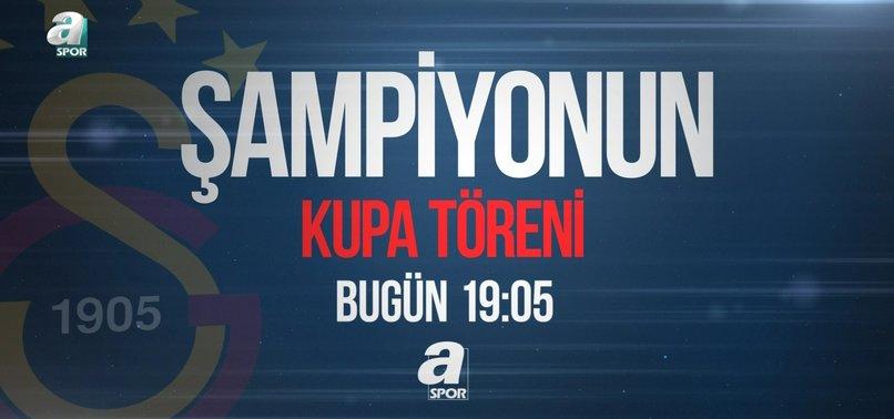 Galatasaray'ın şampiyonluk kutlamaları A Spor'da