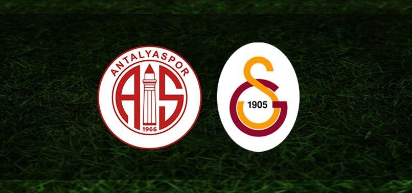 Antalyaspor-Galatasaray   İlk 11'ler belli oldu