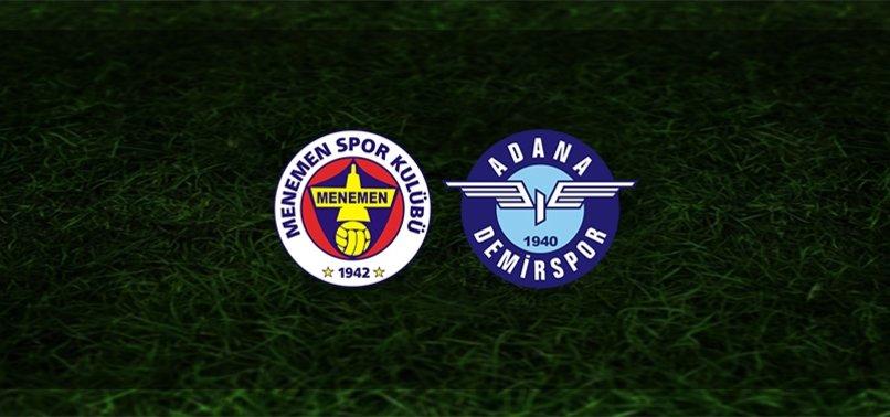 Menemenspor - Adana Demirspor maçı ne zaman, saat kaçta ve hangi kanalda? | TFF 1. Lig